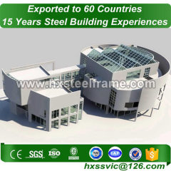 Prefabricated Building made of steelstruct use ASTM steel well welded for Lima