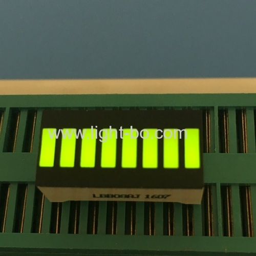 Multicolor 8-Segment LED Light Bar Gradh Array for instrument level indicator