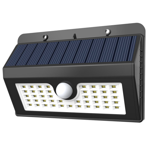 45LED Deck Light Outdoor Wall Light Sconce Motion Sensor Light with Solar Powered Detector Auto On/Off Emergency Lamp