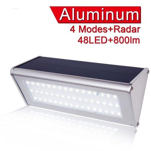 4 mode Garden Solar Sensor 48 LED Lamp 800LM Waterproof IP65 Outdoor Street Wall Lamp