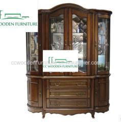 Simple European solid wood cabinet bar cabinet wine storage