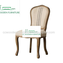 Furniture Antique Upholstered Recycled Wood French Style Armchair for Dining Room dining chairs