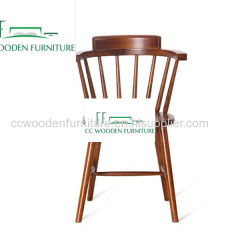 Nordic minimalist solid wood dining chair backrest armchair