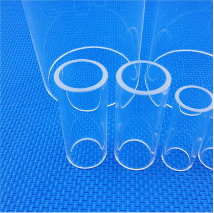 All kinds of high quality quartz tube High temperature resistant further processing quartz tube with cover for sale