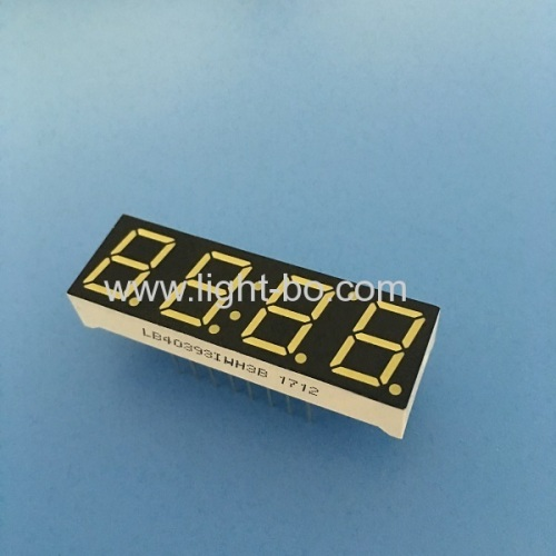 Ultra Bright White 4-Digit 0.39  ( 10mm) 7-Segment LED Clock Display for instrument panel
