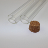 Quartz Test Tube with Glass Stopper borosilicate glass test tube with cork stopper without rim