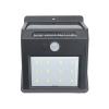 12LED button switch PIR motion sensor solar garden wall lamp