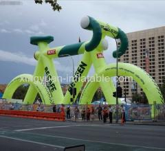 Hot selling giant inflatable bicycle for outdoor advertising