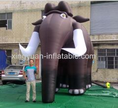 Hot Sale giant inflatable mammoth for advertising
