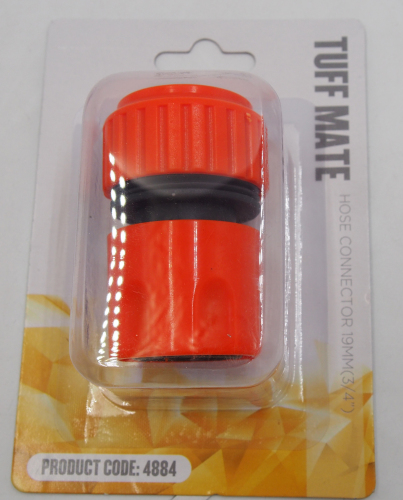 Plastic 3/4  snap-in water quick connector