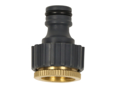 "Brass 1/2""-3/4"" garden tap adapter for hose"