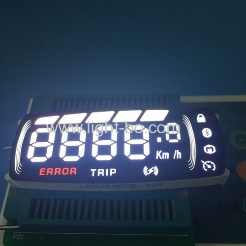 Custom multicolor 7 segment led display module for automobile instrument panel