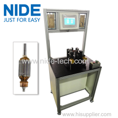 Upgraded version high efficiency customized motor armature balancing equipment rotor testing machine