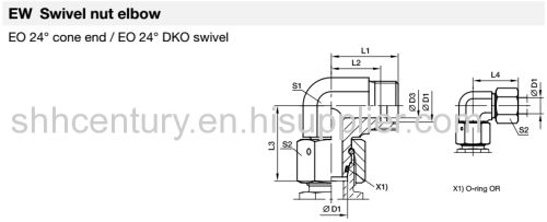 EEDL12 Hydraulic Bite Type Fitting Tube Connector Fittings
