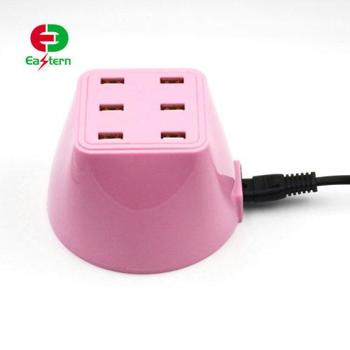 5V 2.4A universal portable 6 port usb travel multi charger