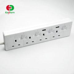 High Quality SASO G-mark 4 Gang Surge Protector Power Strip For Saudi Arabia
