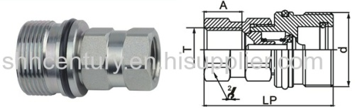 Steel CVV Thread Lock Type Hydraulic Quick Connect Coupling For Vehicles Diggers