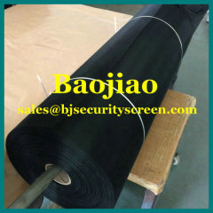 Black Epoxy Coated Steel Mesh Fabric