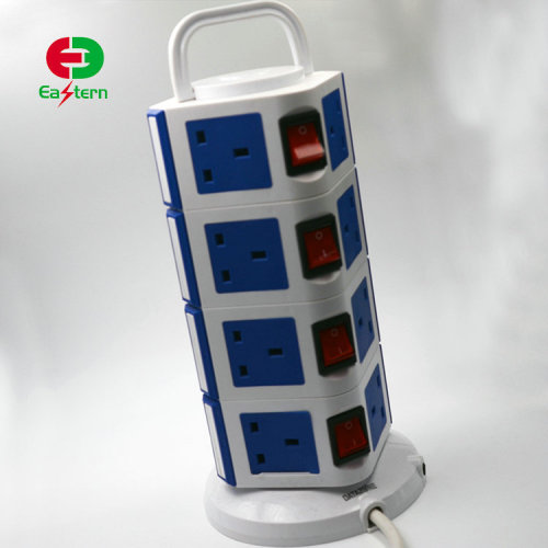Overload Protection Vertical Universal Type Socket 4 Layer Usb Power Strips