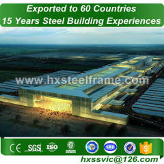 H section steel column and welded steel structures multi-storey at Madrid area