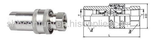 316SS Stainless Steel Hydraulic Quick Coupler ISO7241-1A Quick Connect Disconnect
