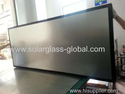 Solar glass for solar water heater collector