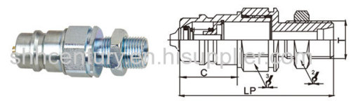 Push Pull Type Hydraulic Quick Coupling PARKER Pioneer 4250 Interchangeable Bulkhead Metric Thread