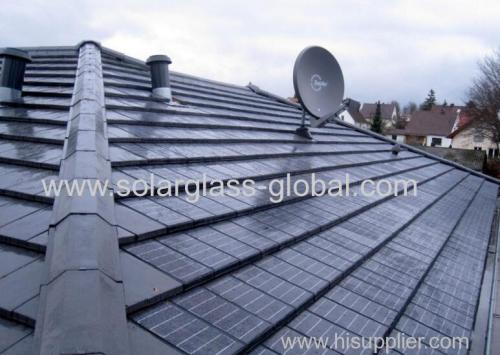 small size Solar glass for solar panel installed on roof of house