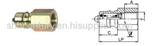 Carbon Steel Hydraulic Quick Release Coupler Nitto HSP Fast Connection Coupling