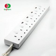 Power Strip Surge Protector 6 AC Outlets 4 USB Ports