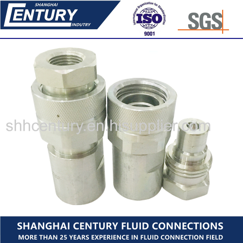 Carbon Steel High Pressure Thread Lock Hydraulic Quick Release Coupling Faster CVV Interchangeable