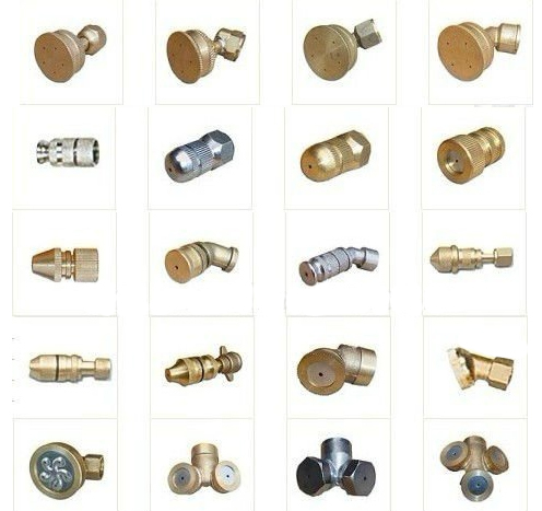 kinds of brass nozzles for sprayer copper nozzle jet nozzles spray tee spray nozzles one hole two hole brass tip head