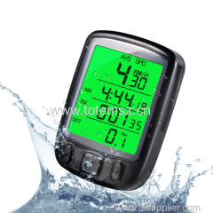 SD 563B Waterproof LCD Display Bicycle Computer Odometer Speedometer