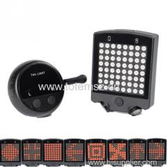 64 LED Wireless Remote Bike Turn Signals Laser Light