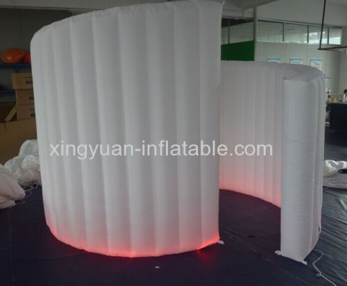 210D Oxford Fabric Inflatable White Spiral Wall For Photo Booth Tent