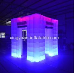RGB LED Inflatable Photo Booth Case With 3 doors