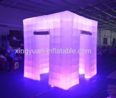 Led Inflatable photobooth with 2 doors