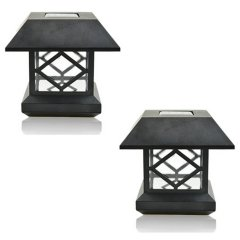 Solar Lantern Pillar/Column/Pedestal Light LED Solar Garden Landscape Street Night Lights (White Light)
