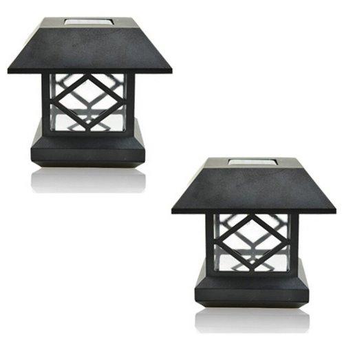 Solar Lantern Pillar/Column/Pedestal Light LED Solar Garden Landscape Street Night Lights (White Light)