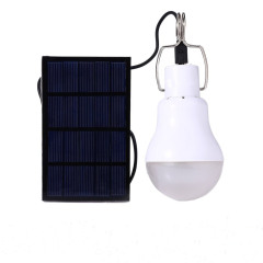 Solar Panel Powered LED Light Bulb Upgrades Portable 3W 110LM Solar LED Lights Lamp