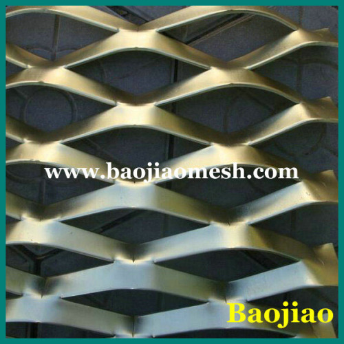 Decorative Aluminum Expanded Curtain Wall Metal Mesh