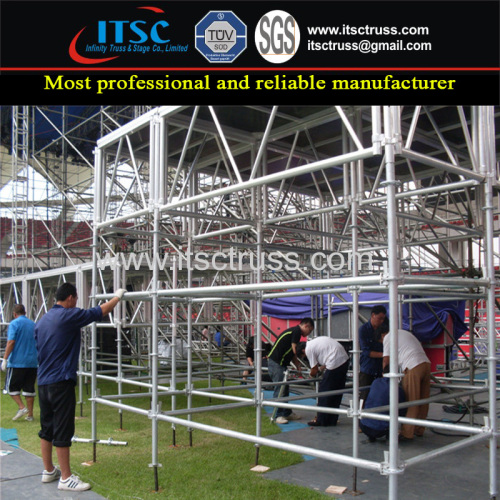 Ringlock Scaffolding 3m High Mobile Stages and Lighting Trussing