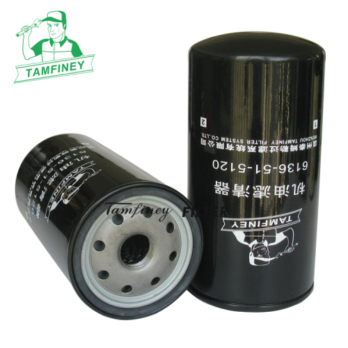 Oil filter in china for Auto filtre 6134515120 6134515121 6136-51-5120 6134-51-5120 6136-51-5121 6136-51-5120N parts fil