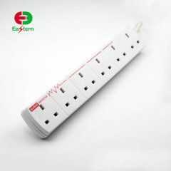 ETL Listed 6 outlet Surge protector with 2 USB power strip