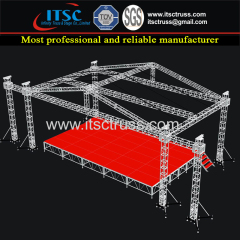 30x30x25ft Aluminum Truss Pyramid Roofing wtih Bolt Connection