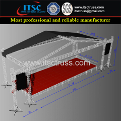 Economic Pyramid Rooftop Trussing Roofing System with 6 Towers and Black Cover