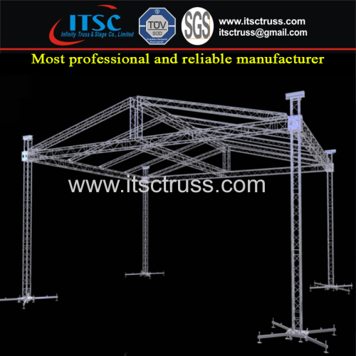 China Supplier Lighting Trussing Pyramid Roofing 10x10x8m