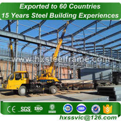 heavy structure formed 60x40 steel building pre-built produce for Cuba buyer