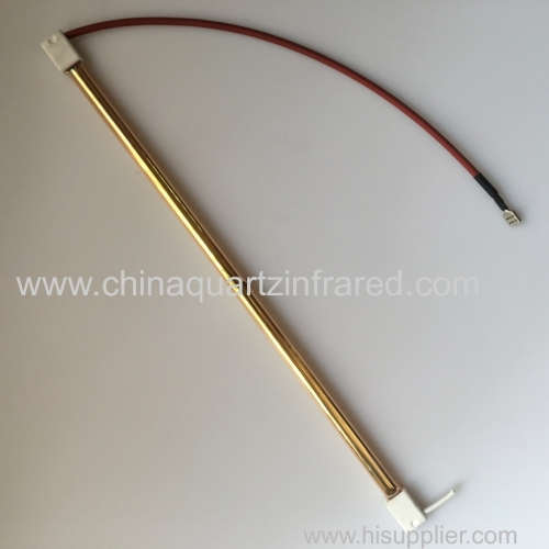 medium wave infrared quartz heating lamp with gold reflector for plastic welding