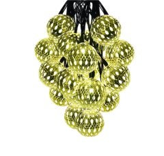 Waterproof 10 LED Solar Globe String Lights Fairy Morocco Ball Lights for Christmas Wedding Birthday Party and Garden